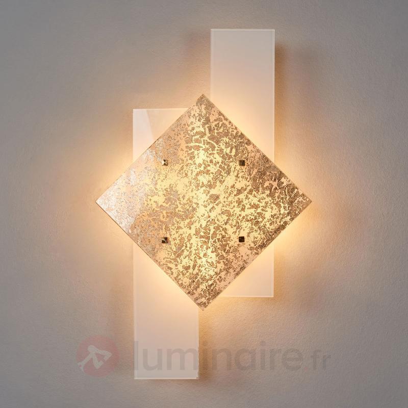 Applique Bandiera décorée à la feuille d'or, 63 cm - Appliques en verre