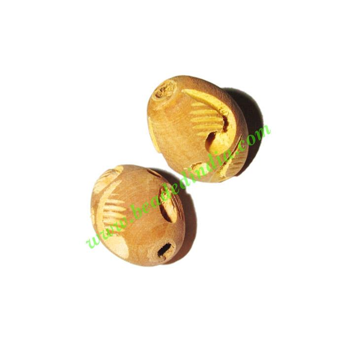 Wooden Carved Beads, size 15x22mm, weight approx 1.8 grams - Wooden Carved Beads, size 15x22mm, weight approx 1.8 grams
