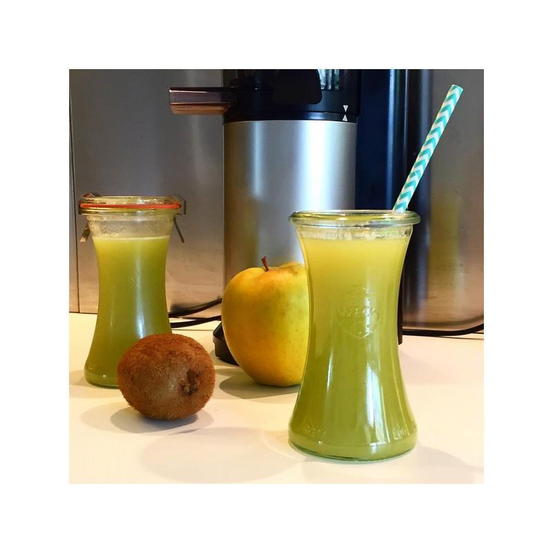 6 tarros WECK Bobine® 200 ml  - con tapas en vidrio y gomas (clips no incluidos)