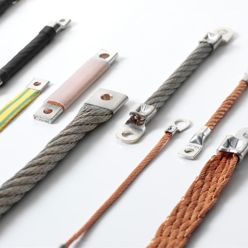 Flexible Kupferverbinder in verschiedenen Konstruktionen - Massebänder, Strombänder und Verbinder in verschiedenen Konstruktionen