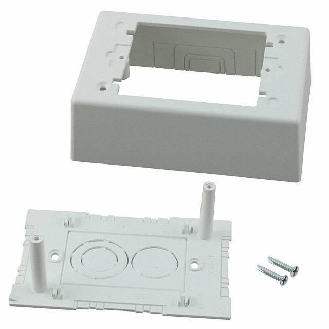 JUNCTION BOX 1 GANG PWR RTD WHT - Panduit Corp JBP1AW