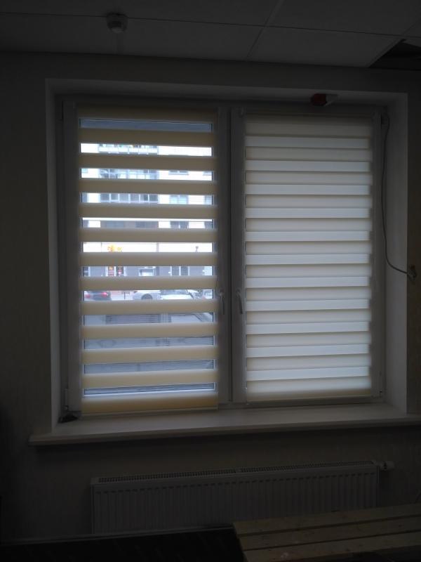 Рулонные шторы день-ночь - ткань Зебра