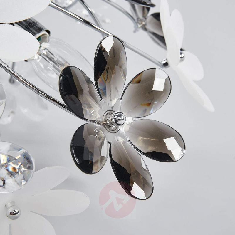 Flower Ceiling Lamp with Transparent Blossoms - Ceiling Lights
