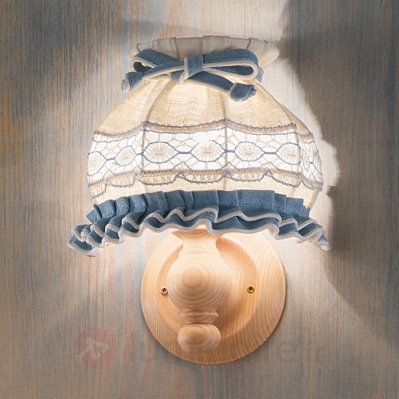 Applique ELSA en tissu, style rustique, brodée - Appliques rustiques