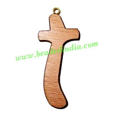Handmade wooden cross (christian) pendants, size : 44x19x4mm - Handmade wooden cross (christian) pendants, size : 44x19x4mm