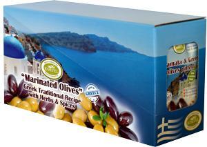 Μαριναρισμένες Ελίες - Snack Pack Sachet 80g - Μαριναρισμένες Ελίες με Ελαιόλαδο & Μπαχαρικά