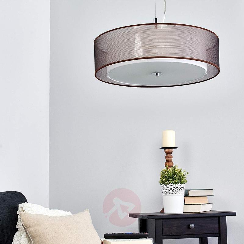 Pikka brown fabric pendant light with E27 LEDs - Pendant Lighting