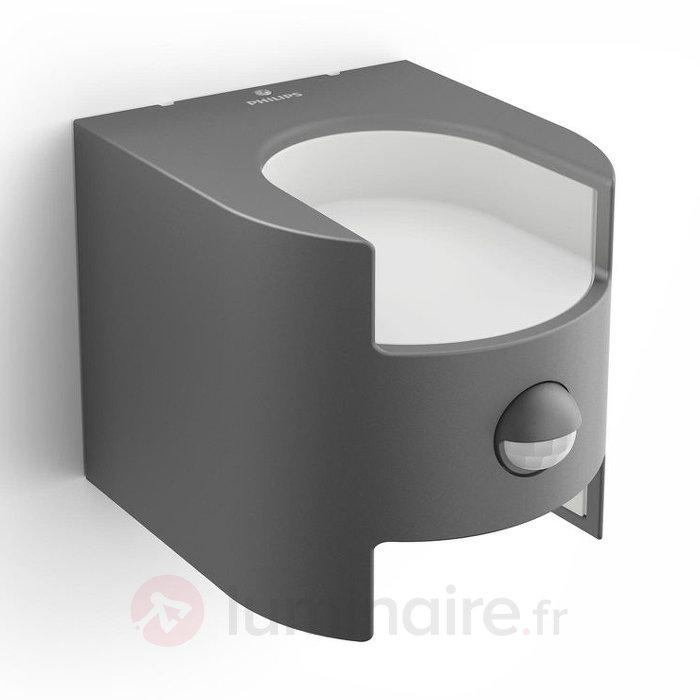 Applique à capteur Grass anthracite avec LED - Appliques d'extérieur avec détecteur