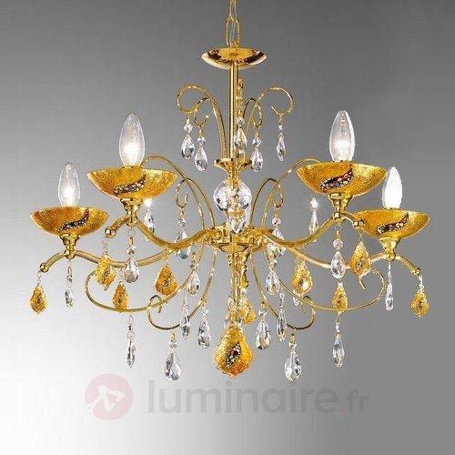 Lustre à 5 lampes Klimt CARMEN KISS - Lustres en cristal