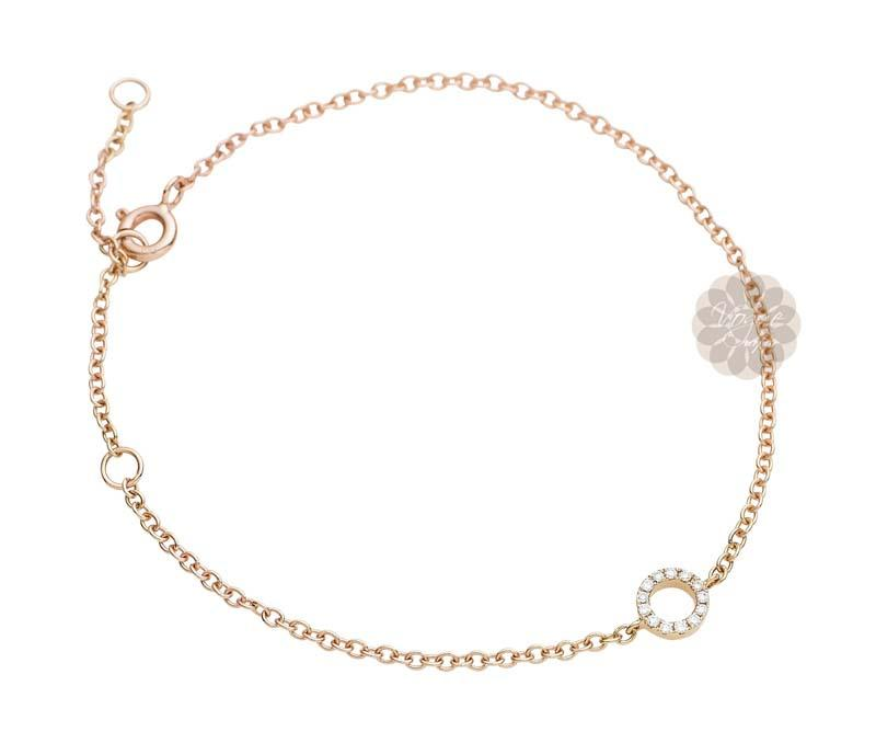 Rose Gold and Diamond Bracelet -