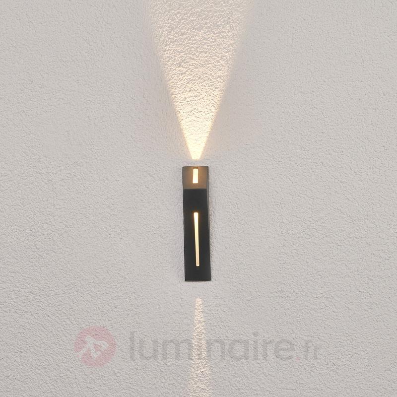 Applique d'extérieur LED Calla, gris foncé - Appliques d'extérieur LED