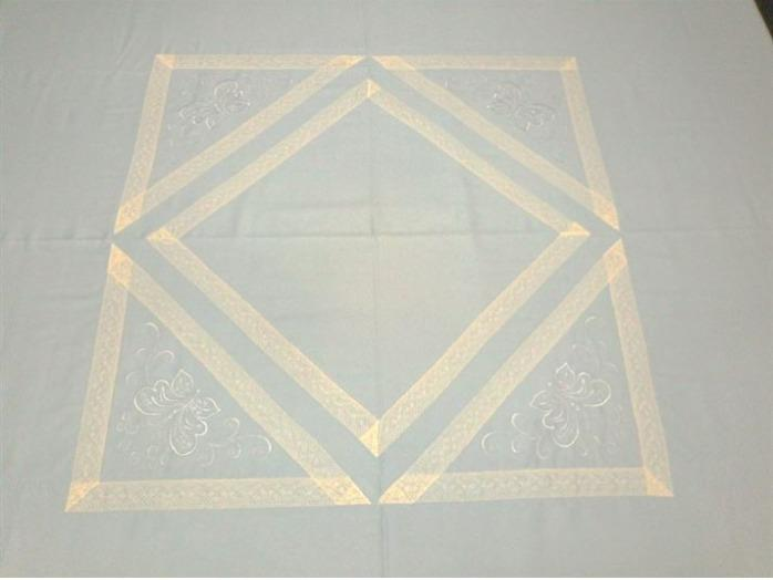 "Bed linen ""Butterfly blue"" - Unique design bed linen set made of 100% cotton satin"