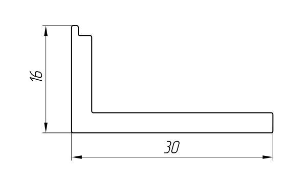 Aluminum Profile For Hatches Ат-1831 - Construction aluminum profile