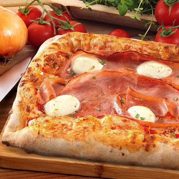Pizza rettangolare Prosciutto e mascarpone - null