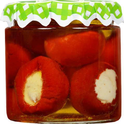 Закуски - Красный сладкий перец, Грибы, Средиземноморская тарелка из 5 закусок