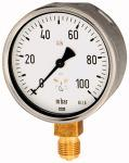 Capsule pressure gauge, radial bottom, G 1/2, 0 - 400... - Capsule-type pressure gauge, connection radial on bottom