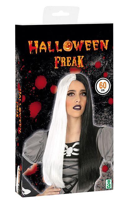 Perruque noire/blanche - Décoration et déguisements pour Halloween