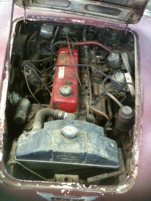 Voiture de collection - Véhicule ancien - AUSTIN HEALEY 3000 1963 rouge