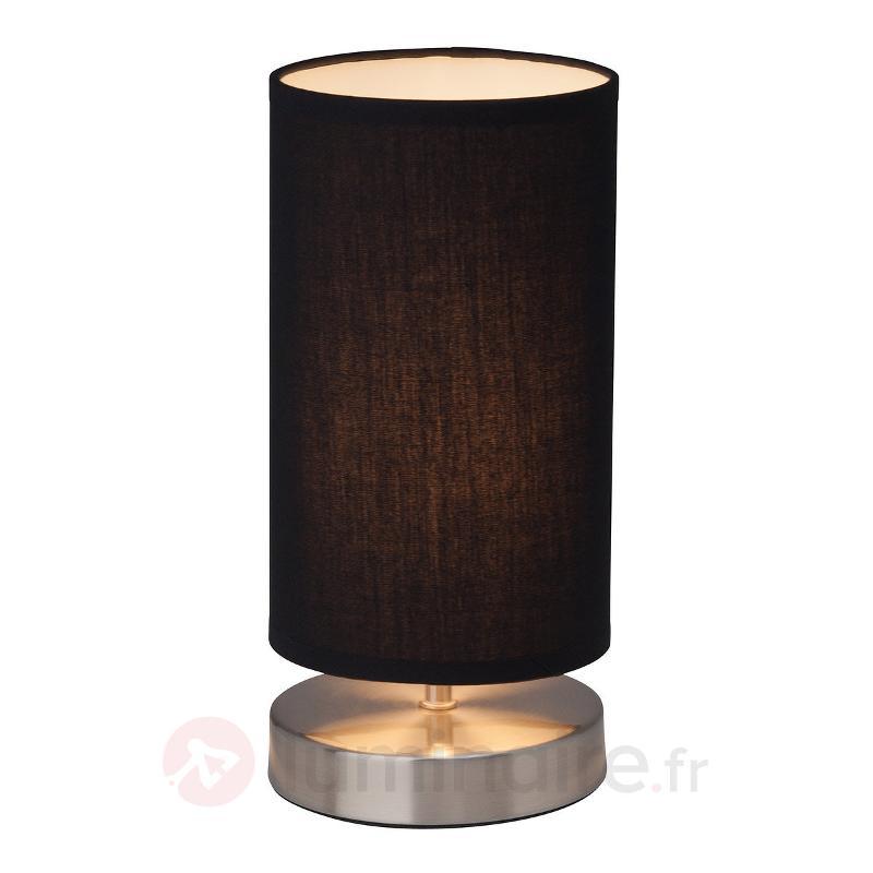 Lampe à poser Clarie avec abat-jour textile noir - Lampes à poser en tissu