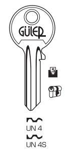 UN-4 & UN-4S - Key Blanks for House
