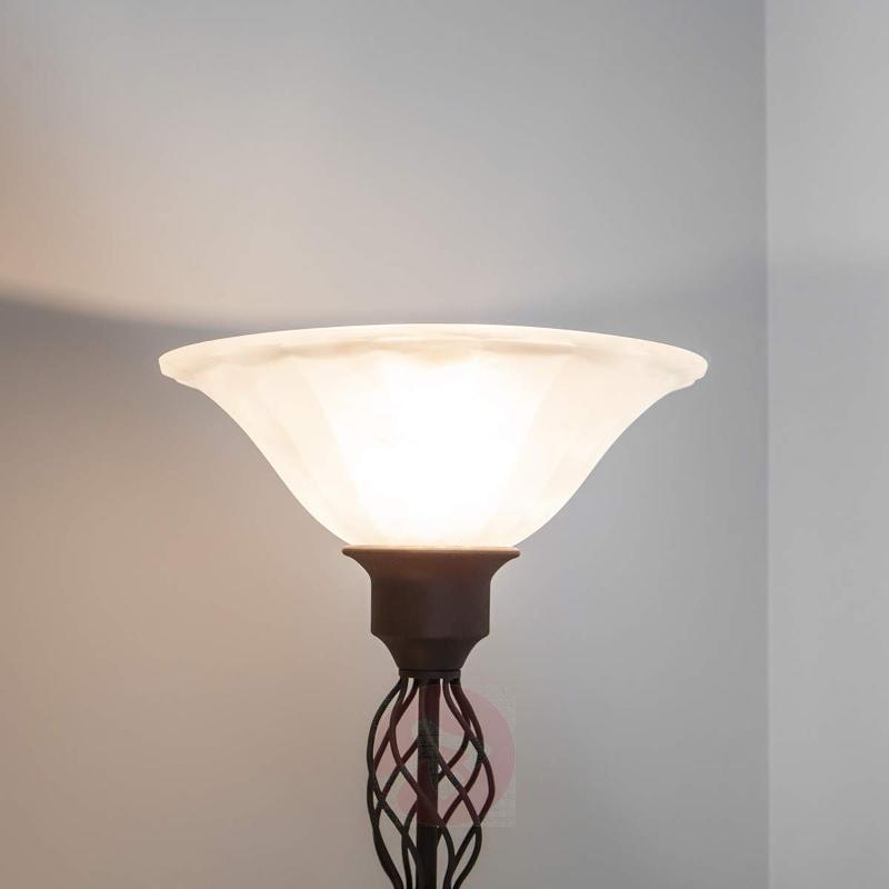 Dunja LED uplighter with a reading light - Floor Lamps