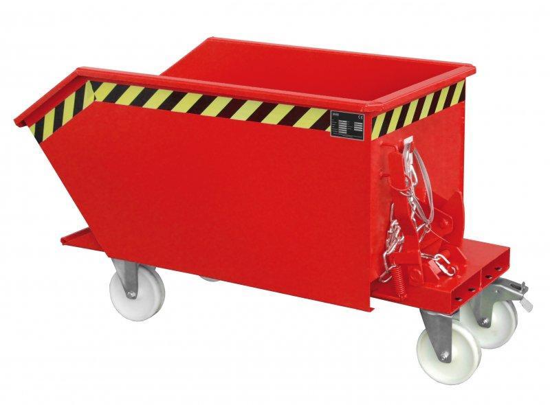 Bac basculant type GU, appareil pour chariot élévateur - Bac avec fourreaux et basculement mécanisme