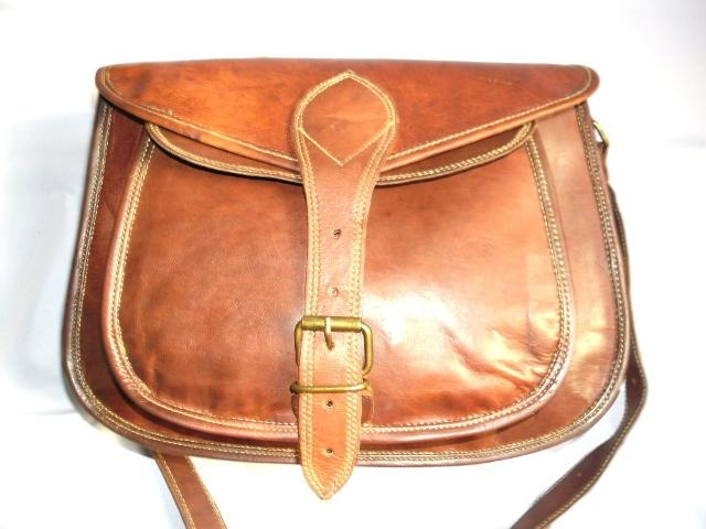 Leather Ladies Bag - Leather Ladies Bag With One Pocket
