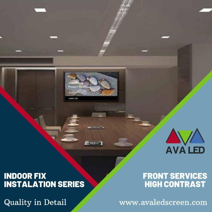 Екрани с информация за рецепцията на хотела - Информационни гигантски LED дисплеи AVA