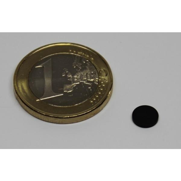 Neodymium disc magnet 6x1 mm, N45, black Epoxy plated - Disc