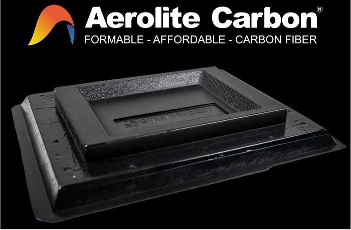 Aerolite Carbon: placa de fibra de carbono termoformable - poliolefina rellena de fibras de carbono para termoformado