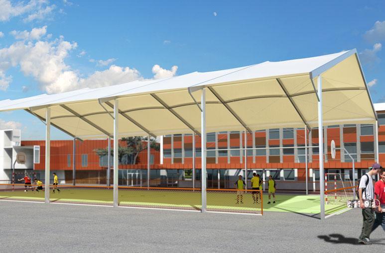 Couverture terrain multisports - Système de construction - Bâtiments sportifs et Espaces Loisirs