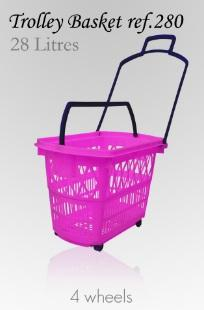 Trolley Basket - 28 Litres (4 wheels)
