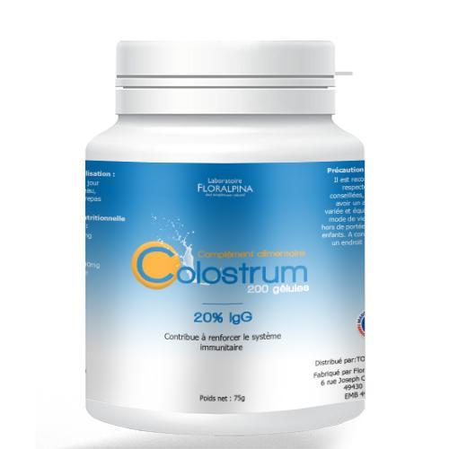 Colostrum bovin 500mg 200 gélules - Colostrum 200 gélules dosées à 500mg