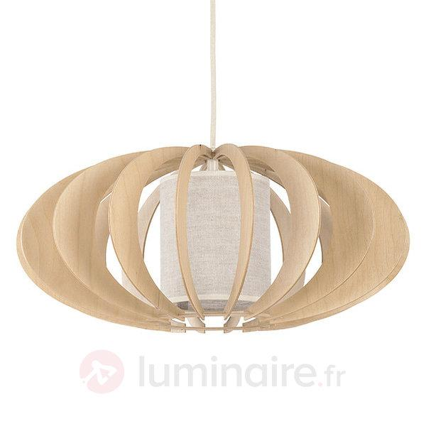 Suspension Keiko en bois et textile - Suspensions en bois