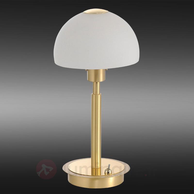 Lampe à poser LED classique Verona, laiton - Lampes à poser LED