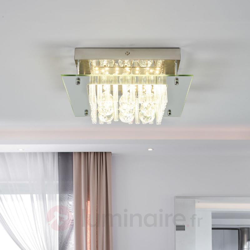 Plafonnier en cristal Enie avec LED - Plafonniers LED