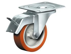SWIVEL CASTOR WITH TOTAL LOCK - Stainless Steel Castors