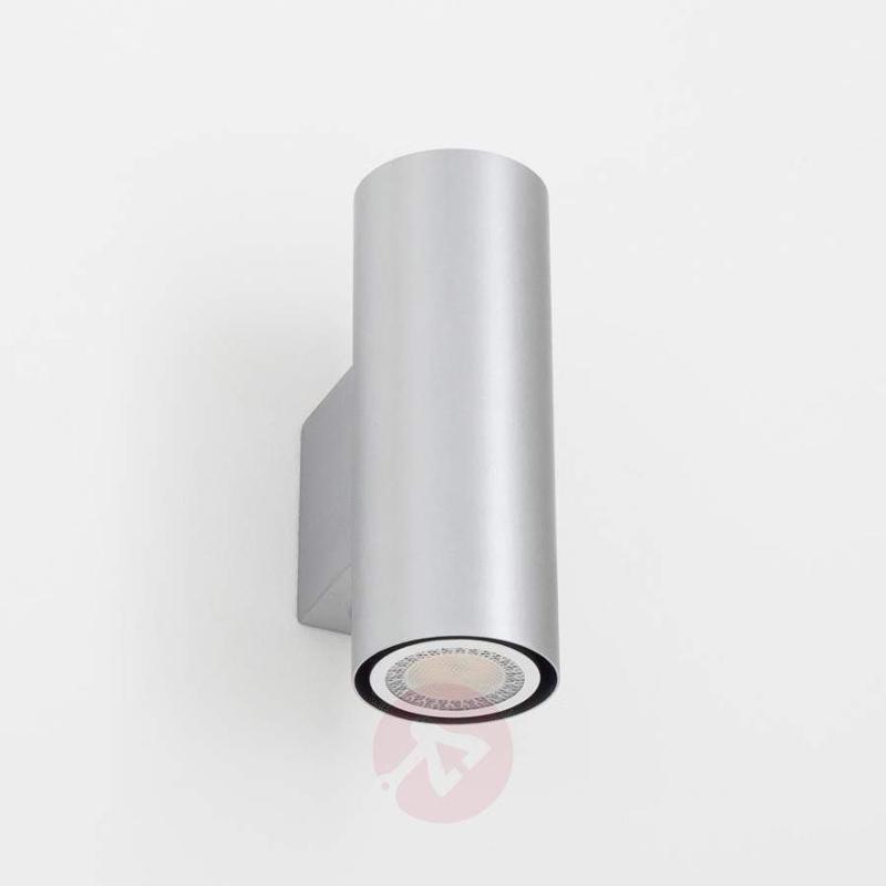 Silver Kabir LED wall light, 2-bulb - Wall Lights