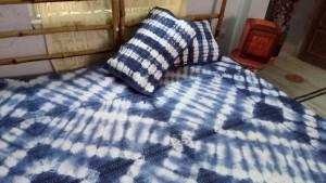 Tie dye handmade kantha bed cover - Kantha bedcover . bed