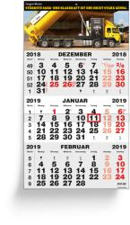 3 Months calendars - 3 Months Classic Grey German