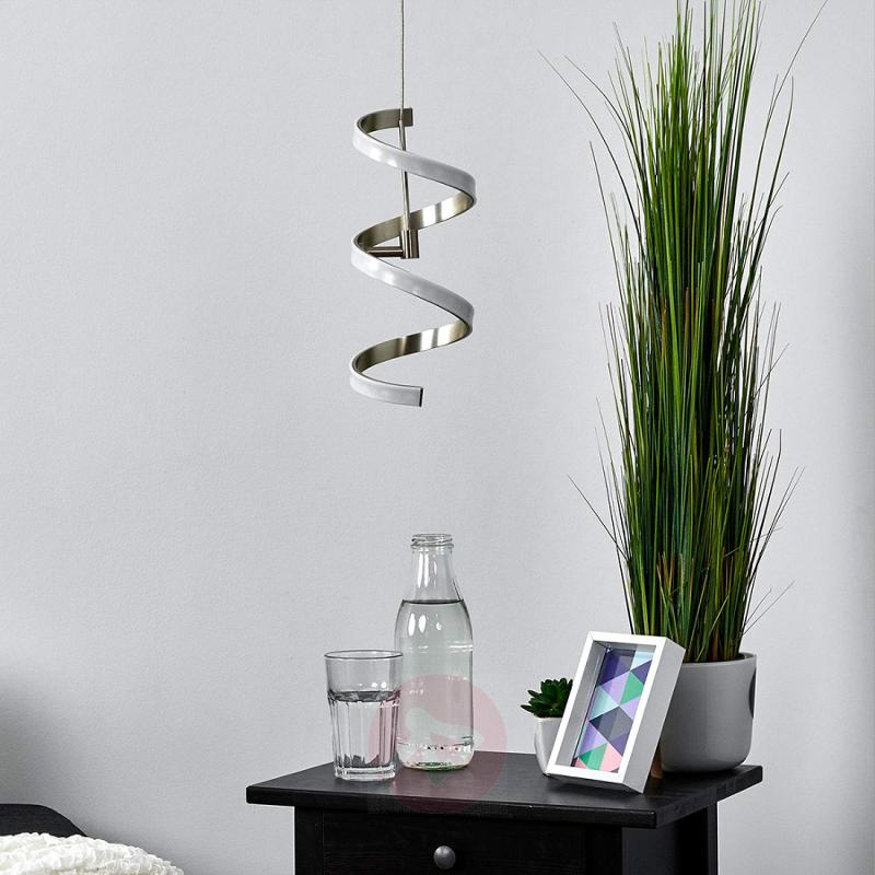 Coil-shaped Pierre hanging lamp with LEDs - indoor-lighting