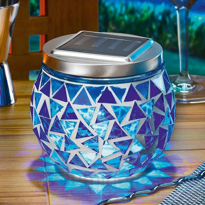 Lampe mosaïque solaire Judith - Lampes solaires décoratives