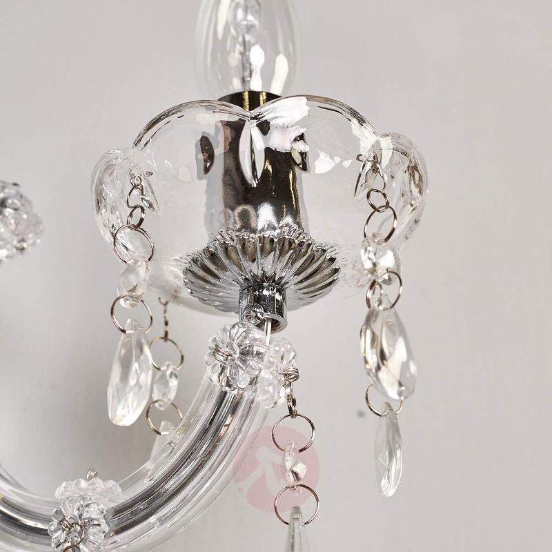 Marie Therese - classic wall light, chrome - Wall Lights