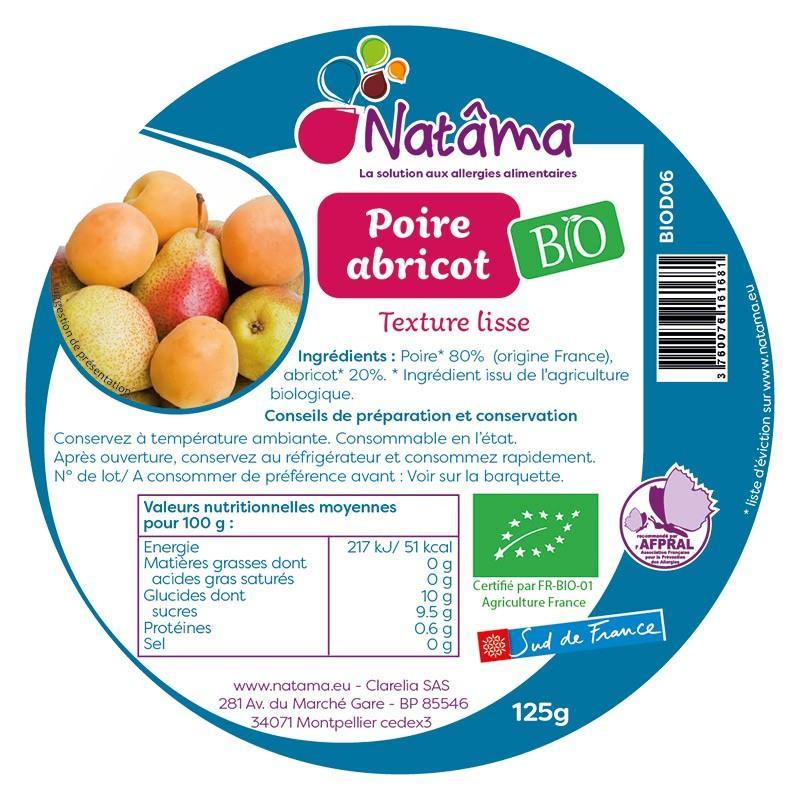 """Dessert Natâma Compote """"Poire abricot bio"""" - Épicerie sucrée"""