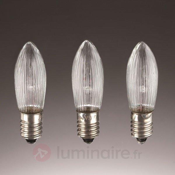 3 lampes Bougies de rechange E10 3W 23V - Ampoules à l'unité