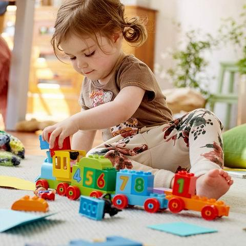 Baby Toys - Train Toy with Number Bricks, Early Education for 1 .5 Year Old, Baby Toy