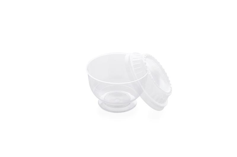 Ice-cream bowl with cover - Plastic bowl for ice-cream