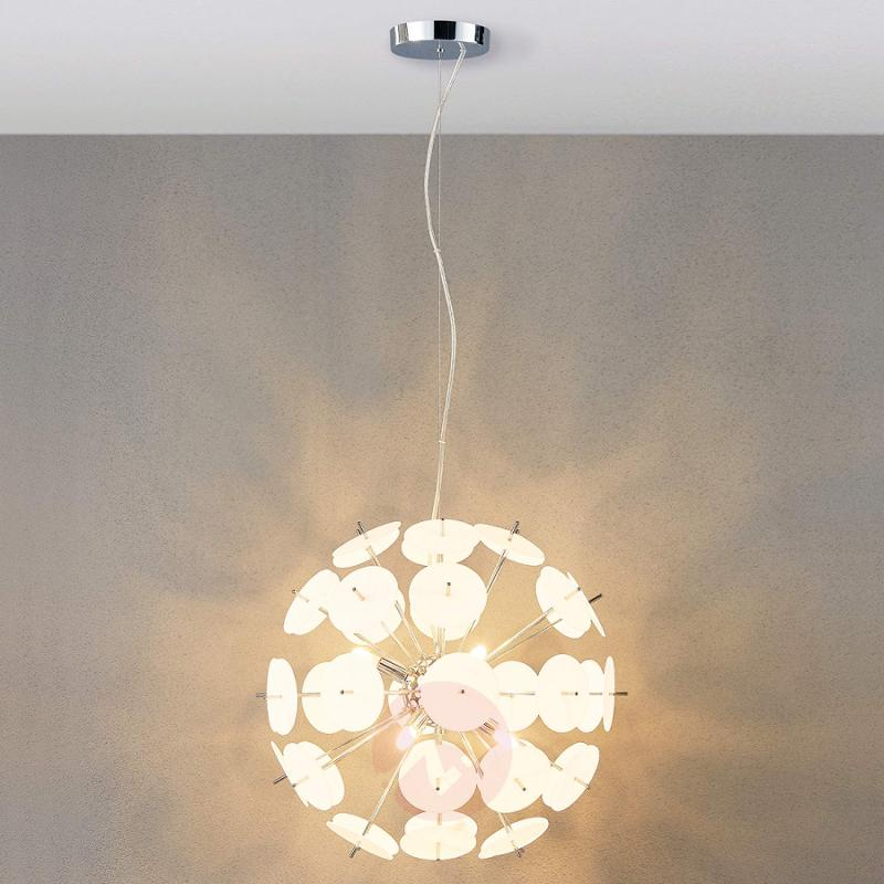 LED hanging lamp Lyrien with plastic pieces - indoor-lighting