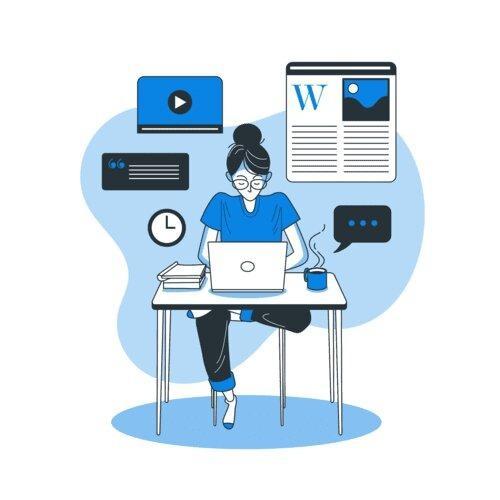 Curso online de WordPress con certificado - Opción de página web instalada