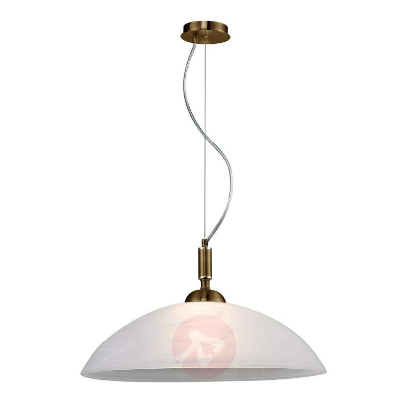 Brass-coloured hanging light Venezia - Pendant Lighting